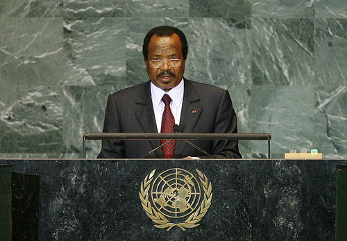 Paul Biya, President of the Republic of Cameroon, addresses the general debate of the sixty-fourth session of the General Assembly. 25/Sep/2009. United Nations, New York. UN Photo/Marco Castro. www.unmultimedia.org/photo/